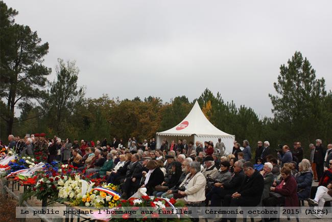 Le public pendant l'hommage, cérémonie octobre 2015