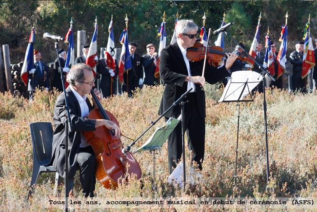 Accompagnement musical en début de cérémonie