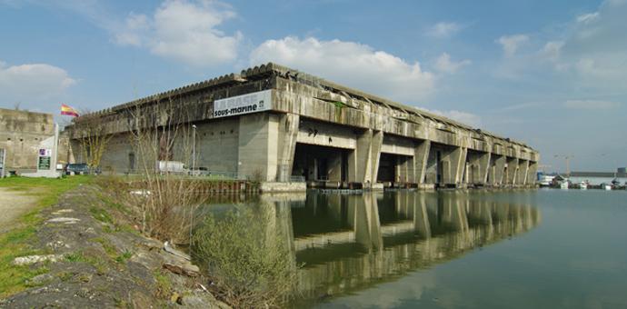 La base sous-marine de Bordeaux de nos jours